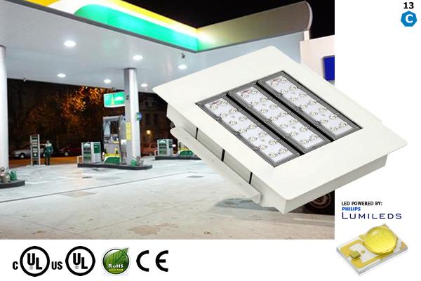 LED Gas Station Lighting - Vivid Leds